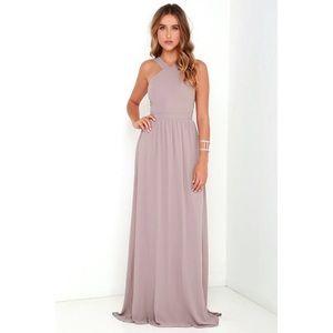 Lulus Air of Romance Mauve Dress Size Med